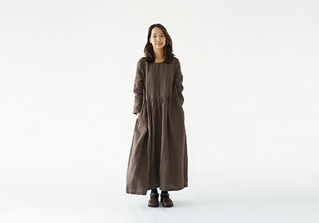 Autumn Linen Dress
