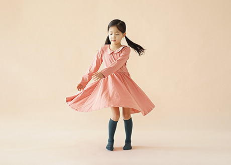 Collar Nina Dress, Peach