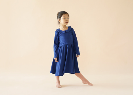 Collar Nina Dress, Classic Blue
