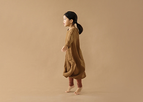 Agnes Gauze Dress, Clay