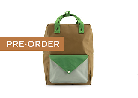 [Sticky Lemon] Large Backpack, Green Envelope