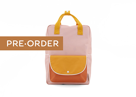 [Sticky Lemon] Large Backpack, Pink with Yellow
